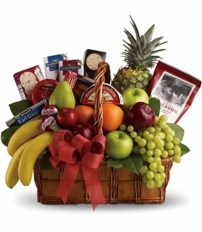Giỏ hoa quả, quà tặng sức khỏe ý nghĩa