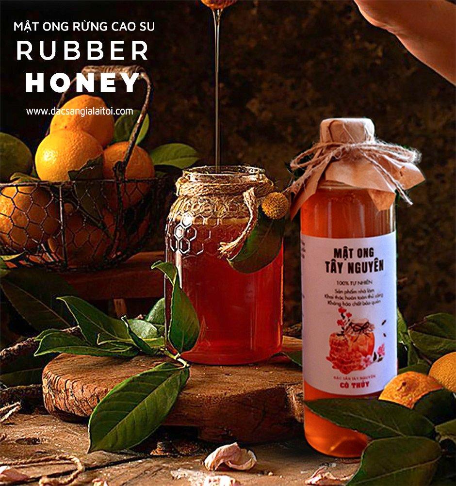 Xếp hạng sô 3 - mật ong loại nào tốt nhất chính là mật ong lá cao su