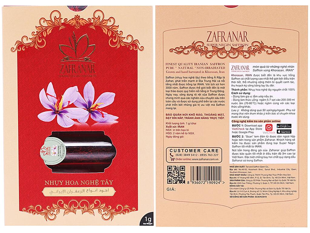 Cửa hàng mua saffron chính hãng tại Việt Nam uy tín giá tốt